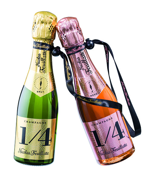 nicolas feuillatte champagne brut black 1 4 label nv 187ml case. Black Bedroom Furniture Sets. Home Design Ideas